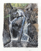 "Wisconson Waterfalls - 14.5""x18.2"""