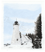 "Old Presque Isle Lighthouse - 15.5""x17"""