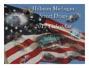 Hillman Street Drags 2012 Calendar Front and Back 12 months